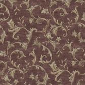 AL13766 Vlad Purple Acanthus Vine Wallpaper
