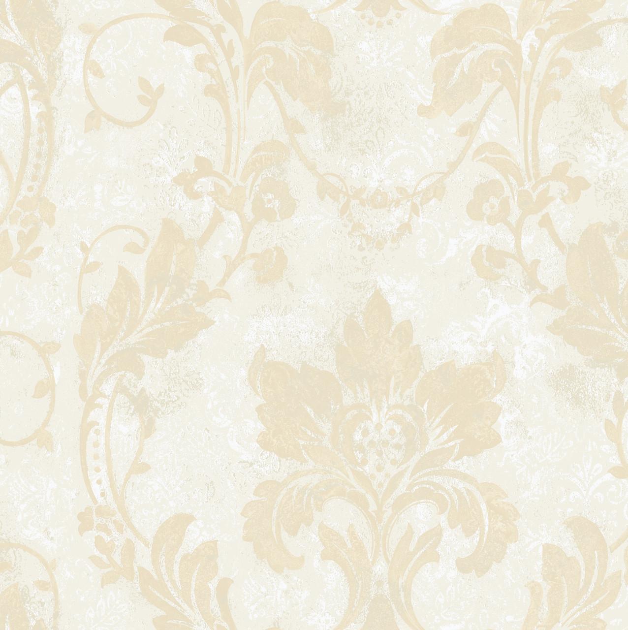 Irena Delicate Damask Latte Wallpaper Al13771 Indoorwallpaper Com