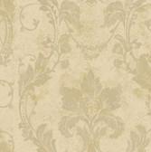 AL13773 Irena Gold Delicate Damask Wallpaper