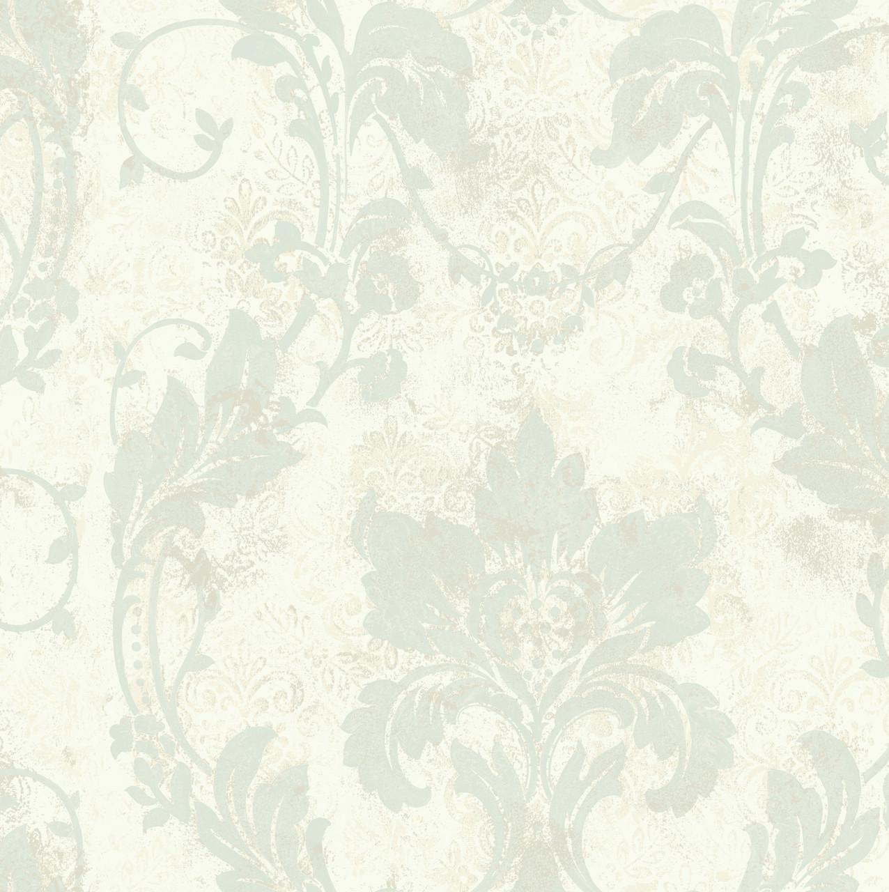 Irena Delicate Damask Sapphire Wallpaper Al13774 Indoorwallpaper Com