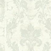 AL13774 Irena White Delicate Damask Wallpaper