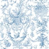 Ashford House Toiles Old World Toile Blue-Cream AT4241 Wallpaper