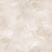 Kaley Satin Leaves Burlywood Wallpaper 2532-17656