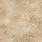 Kaley Satin Leaves Butterscotch Wallpaper 2532-17657