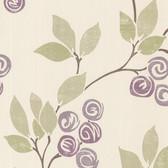 Geisha Floral Trail Wallpaper Mauve-Sage 2532-20410