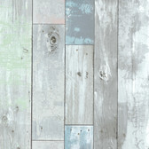 Dean Distressed Wood Panel Sky Wallpaper 2532-20416
