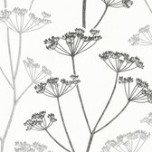 Albury Brasilia Flower Charcoal-Pewter Wallpaper 2532-20427