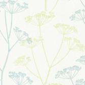 Albury Brasilia Flower Lime-Sapphire Wallpaper 2532-20428
