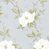 Cressida Magnolia Trail Azure Wallpaper 2532-20435