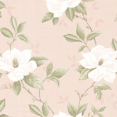 Cressida Magnolia Trail Coral Wallpaper 2532-20436
