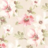 Lynette Watercolour Floral Cherry Wallpaper 2532-20447