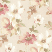 Lynette Watercolour Floral Coral Wallpaper 2532-20448