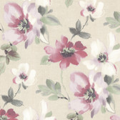 Lynette Watercolour Floral Plum Wallpaper 2532-20449