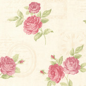 Venetia Vintage Rose Toss Punch Wallpaper 2532-20450