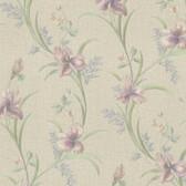 Misty Lily Trail Linen-Amethyst Wallpaper 2532-20467