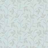 Cynthia Tonal Leaf Trail Periwinkle Wallpaper 2532-20481