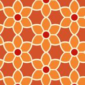 Flora Geometric Floral Merigold Wallpaper 2532-20609