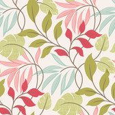 Clementine Modern Leaf Trail Fuchsia Wallpaper 2532-20629