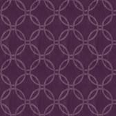 Eaton Geometric Purple Wallpaper 2532-20642
