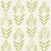 Skye Block Print Tulip Lime Wallpaper 2532-20649