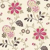 Darlene Fuchsia Modern Floral Trail 2532-20676