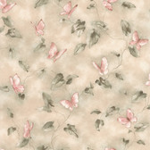 Aveline Butterfly Trail Coral Wallpaper 2532-45108