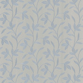 Cynthia Tonal Leaf Trail Pigeon Blue Wallpaper 2532-62162