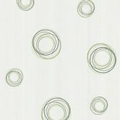 Fleming Geo Swirl Honeydew Wallpaper 2532-62173
