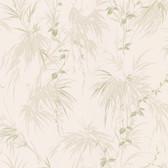 Nessa Satin Leaf Motif Lavender Wallpaper 2532-63831