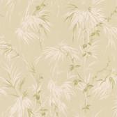 Nessa Satin Leaf Motif Hazelwood Wallpaper 2532-63833