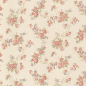 Roesia Rose Trail Coral Wallpaper 2532-68324
