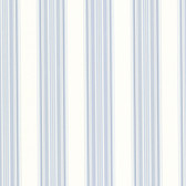 302-66811 La Belle Maison Manor Stripe Cobalt-Sky Wallpaper