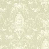 302-66817 La Belle Maison Flourish Cameo Fleur Olive Wallpaper
