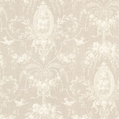 302-66818 La Belle Maison Flourish Cameo Fleur Latte Wallpaper