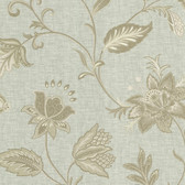 302-66820 La Belle Maison Heritage Jacobean Flower Sage Wallpaper