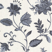 302-66821 La Belle Maison Heritage Jacobean Flower Charcoal Wallpaper