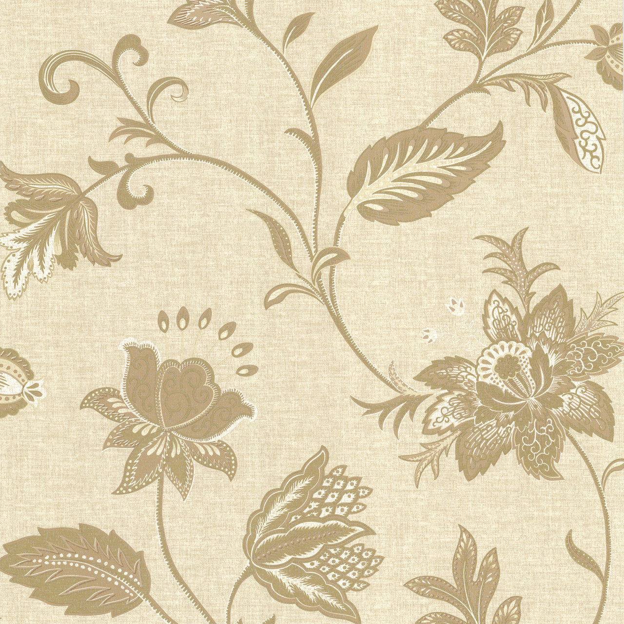 La Belle Maison Heritage Jacobean Flower Gold Wallpaper 302 66824