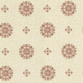 302-66827 La Belle Maison Vintage Floral Medallion Rust Wallpaper