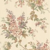 302-66837 La Belle Maison Lush Floral Trail Coral Wallpaper