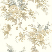 302-66839 La Belle Maison Lush Floral Trail Sandcastle Wallpaper