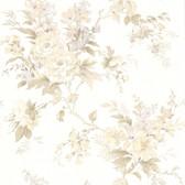 302-66840 La Belle Maison Lush Floral Trail Tan Wallpaper