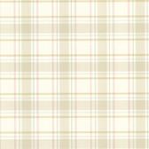 302-66842 La Belle Maison Grand Plaid Tan Wallpaper