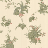 302-66849 La Belle Maison Frond Leaf Trail Green Wallpaper