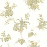302-66850 La Belle Maison Frond Leaf Trail Moss Wallpaper