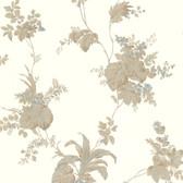 302-66851 La Belle Maison Frond Leaf Trail Flaxen Wallpaper