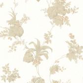 302-66852 La Belle Maison Frond Leaf Trail Beige Wallpaper