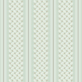 Ashford Stripes Basketweave Wallpaper SA9150 in Off White, Blue and Gray