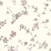 302-66857 La Belle Maison Rosetta Floral Trail Plum-Lilac Wallpaper