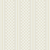 Ashford Stripes Basketweave Wallpaper SA9152 in Off White, Gray and Beige