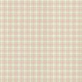 302-66867 La Belle Maison Petite Plaid Olive-Pink Wallpaper